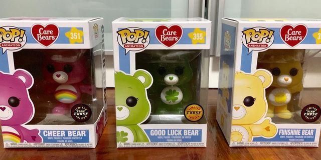 🚚 Funko Carebears Chase Set (Cheer Bear, Good Luck Bear & Funshine Bear)