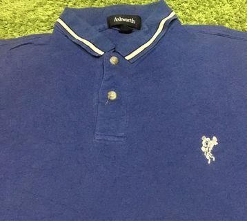 ASHWORTH POLO TEE PLAIN BIRU