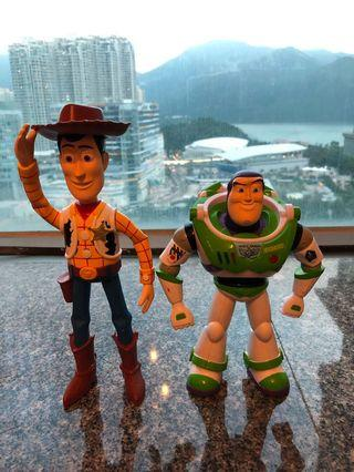 Woody and Buzz toys . With noice