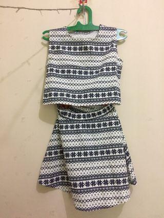 Mini top and skirt