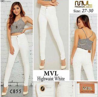 Highwaist Button Pants in White
