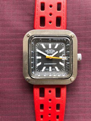 RARE!! Mentor Safari (Poor Man's Heuer) Swiss Watch