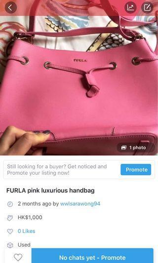 FURLA pink bag