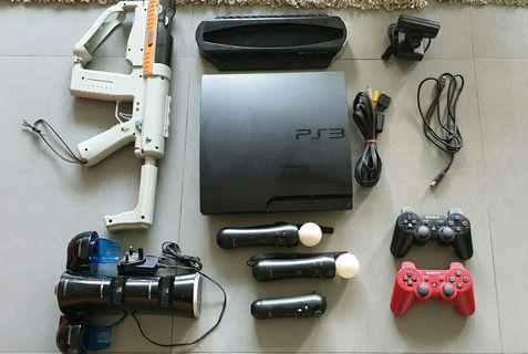 160gb Playstation 3 + 9 Accessories + 37 Games