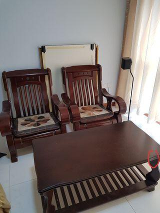 Rosewood Wooden Sofa Set