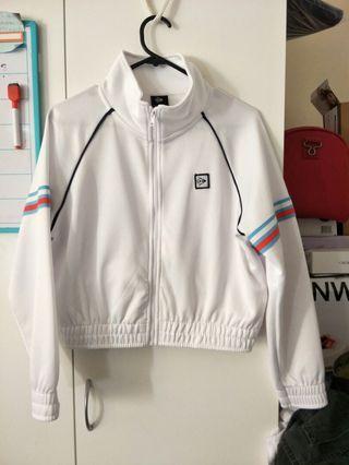 Dunlop white crop jacket