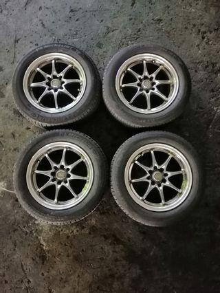 """Used 15""""inch rims and tyres 4x100 and 4x114.3"""