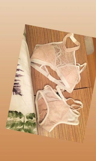 Pole dance outfit new  white Lacey