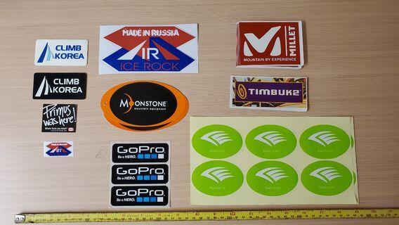 Millet Reecho GoPro ICE ROCK品牌貼紙