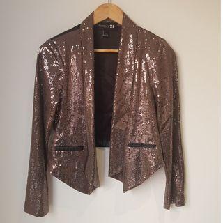 FOREVER 21 Copper Sequin Coat