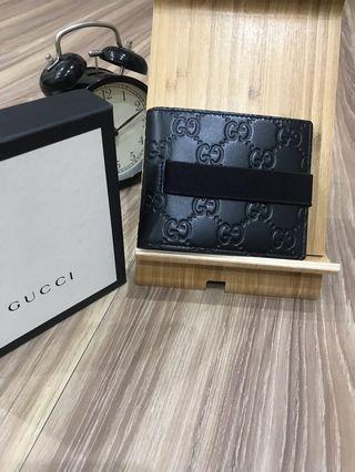 🚚 Gucci短夾 滿版壓紋 (全新正品)