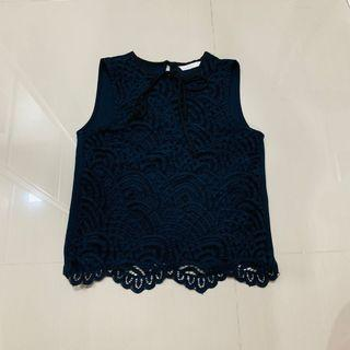 Padini Lace Top navy