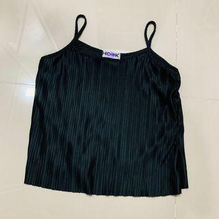 Hook clothing pleated top