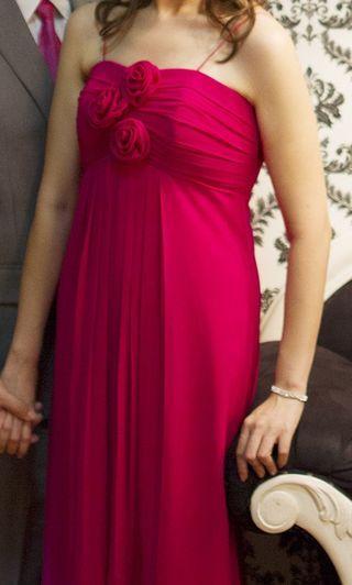 #BAPAU Gaun Pesta / Dress Pesta / Party Dress / Long Dress / Gaun Bridesmaid / Gaun Pengapit Fuschia