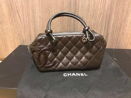 Rare CHANEL classic Cambon line mini-bowling bag (brown) 經典手袋 #MILAN02 #MILAN12