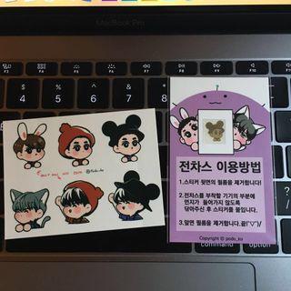 Podo_ko (韓國EXO勛勉畫手) 貼紙(勛勉)+手機防鐳射貼(SUHO)