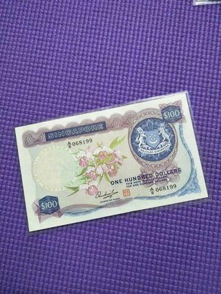 Sg old $100 notes
