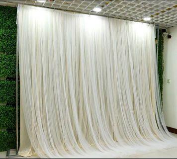 Backdrop 背景布 婚禮場地佈置 裝飾 婚宴 婚慶 結婚 紗幔 wedding