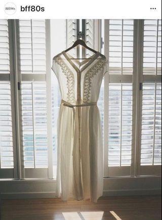 《全新甜價》純凈布蕾白洋裝。轉賣BFF80s