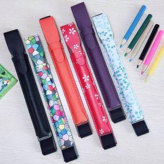 Apple Pencil 1代 及 2代 皮套,橡筋帶可扣主機, 合所有iPad 尺吋(7.9 Mini, 9.7, 10.5, 11 及 12.9) 多色可選