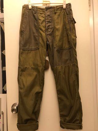 Levi's 軍綠色長褲 工装