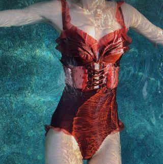 Lace Sexy Bandage Swimsuit 蕾丝波点聚拢比基尼泳衣#
