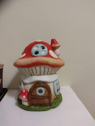 全新2個香薰蘑菇屋 蠟燭爐 candle House