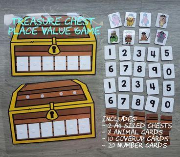 Place Value Treasure Box Game Learning Resource