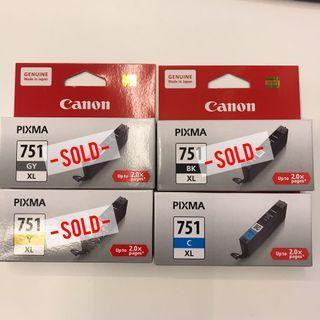Canon Pixma Ink Cartridge 751XL (Assorted)