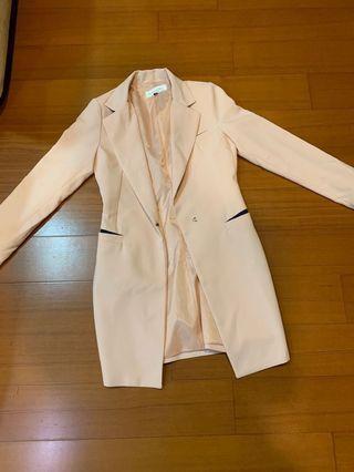 西裝外套 歐美風 韓風 裸色