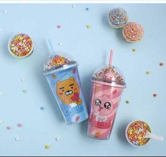 [PO] KAKAO FRIENDS ICE CREAM TUMBLER RYAN APEACH CUP MUG BOTTLE