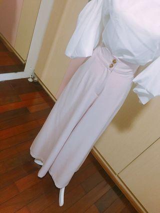 🚚 韓版涼款粉色仙女寬褲