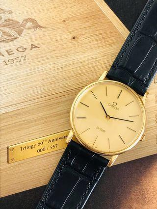 Hari Raya Special 20% off - Omega Vintage Deville, Gold Dial, Gold Plated Case, Mechanical Hand Wind, Cira 1970's, Serviced, Like New Condition.