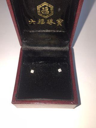 六福18k 鑽石耳環(共10份)