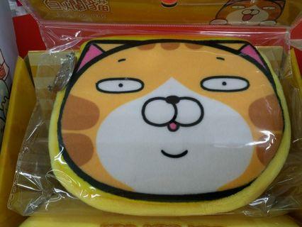 🚚 白爛貓 絨毛票卡造型零錢包 面紙包 化妝包 小物收納包 生理用品收納包