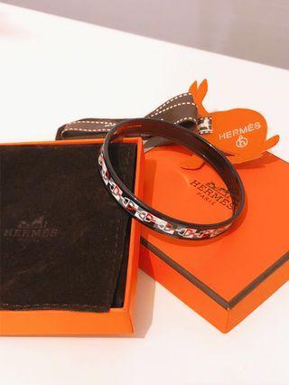 """Hermes """"Optique Chaine D'ancre"""" Enamel Bracelet"""