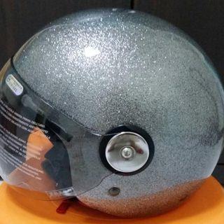 海鳥牌 PN-781M 金蔥黑 3/4半罩式安全帽