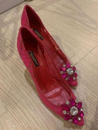 D&G蕾絲高跟鞋