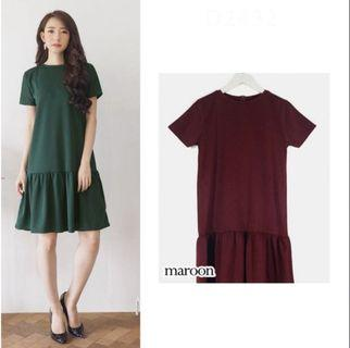 Brigita Maroon Dress