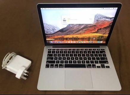 Macbook Pro 13,i5,8gb,256gb mid 2014 retina