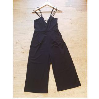 Black String Jumpsuit w/ Pockets