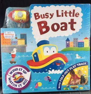 Busy Little Boat 🚤 Fold-Out Play Track Board Book