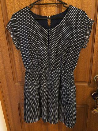 Navy dotti dress
