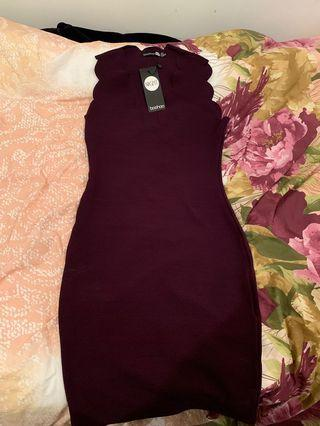 Plum Bodycon Dress