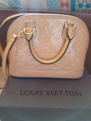 Louis Vuitton LV BB Alma Nude Mirror Patent Leather RARE COLOR BISA BARTER