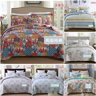 Cotton 3 Pieces Bedsheet Set