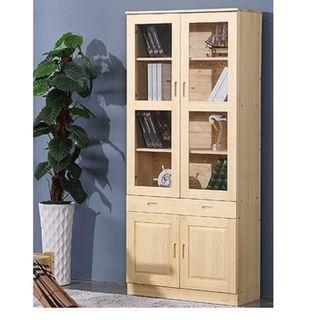 實木 玻璃 櫃 書櫃 可訂造 松木 租房 劏房 公屋 居屋 私樓 190510tr14