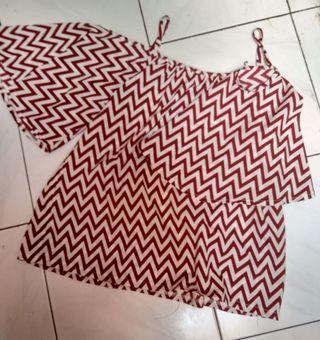 Baju Sabrina garis-garis  lucu murah dan bagus