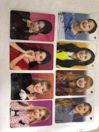🚚 Blackpink transparent photocards