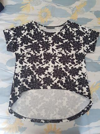 black and white top size L